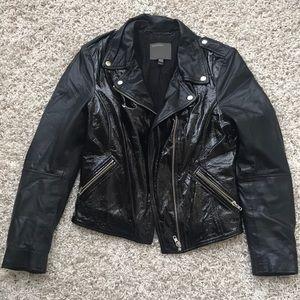 muubaa carmona patent leather biker jacket Size 6